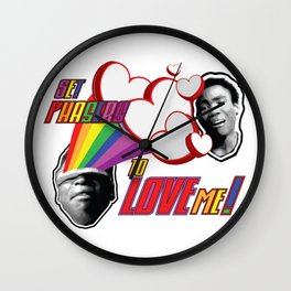 Set Phasers to LOVE ME by BenCapozzi Wall Clock