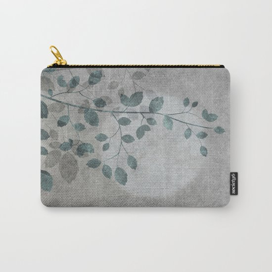 Pale moon mixed media illustration Carry-All Pouch
