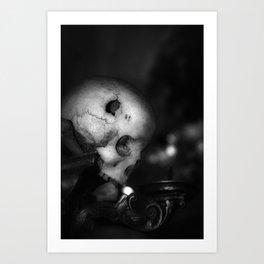 Kostnice Beinhaus Skull I Art Print