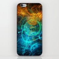 holographic iPhone & iPod Skins featuring Holographic Chaos by noistromo