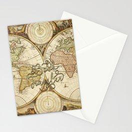 Book Traveler Vintage Map v2 Stationery Cards