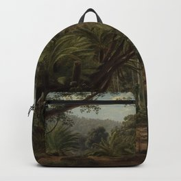 Ferntree and Palms, Tropical Gully landscape portrait by Eugene von Guerard Backpack