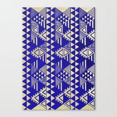 Ethnic Indigo Canvas Print