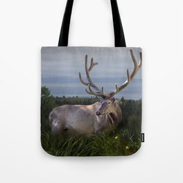 Elk or Wapiti Photographic Nature Portrait Tote Bag