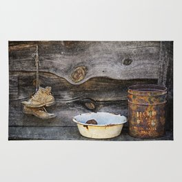 Old Boots and Washtub Rug