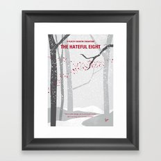 No502 My Hateful eight minimal movie poster Framed Art Print