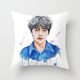 Taehyung watercolor Throw Pillow