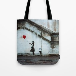 Banksy street art / photograph - girl with red ballon Tote Bag