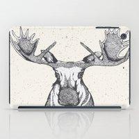 moose iPad Cases featuring Moose by Nadie van Wijk