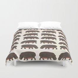 Hippo,hippo Duvet Cover