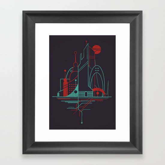 From the Subway to the Sky (at Night) Framed Art Print