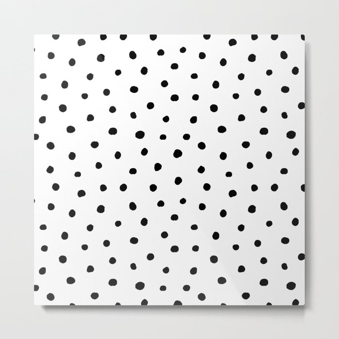 Polka Dot White Background Metal Print