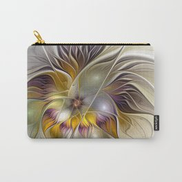Abstract Fantasy Flower Fractal Art Carry-All Pouch