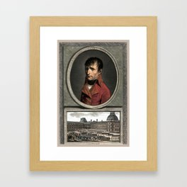 Napoleon Bonaparte -- Troop Review Framed Art Print