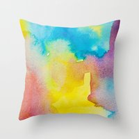 heaven Throw Pillows featuring Heaven by elena + stephann