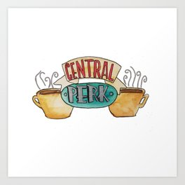 Central Perk from Friends TV Show Art Print