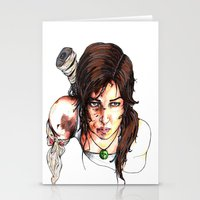 tomb raider Stationery Cards featuring Tomb Raider: The Survivor by Dale Dupre