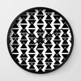 RIGHT AND WRONG: II BLACK AGAIN Wall Clock