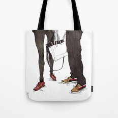Mismatched, But Not Incompatible by Kat Mills Tote Bag