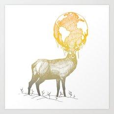 Deer God Art Print