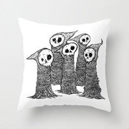 Skull buddies Throw Pillow