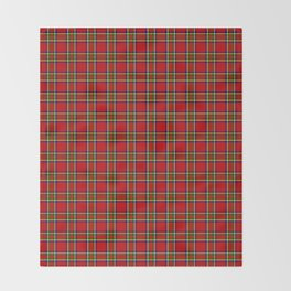 Tartan Classic Style Red and Green Plaid Throw Blanket