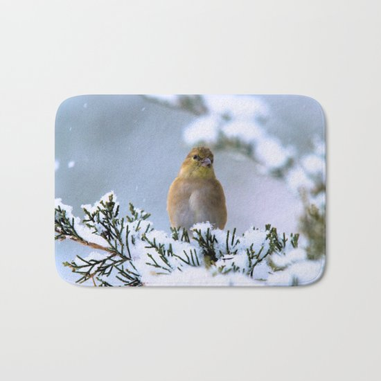 Is This Heaven? (American Goldfinch) Bath Mat