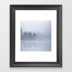 Autumn Foggy Morning Framed Art Print