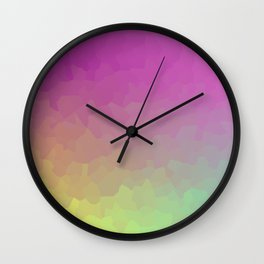 Crystalline Gradient Wallpaper Wall Clock