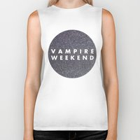 vampire weekend Biker Tanks featuring Vampire Weekend glitters logo by Van de nacht