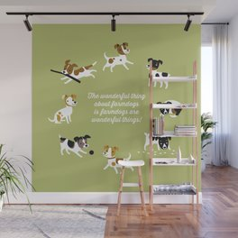 Farmdogs are wonderful things Wall Mural