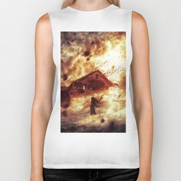 And Now... Kiss The Burning Darkness Biker Tank