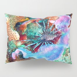 Coral and Lionfish, Underwater photo by John Schwalbe Pillow Sham
