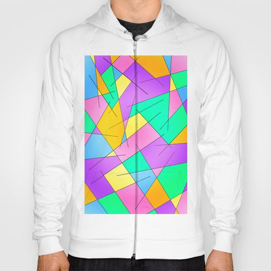 ABSTRACT LINES #1 (Multicolored Vivid) Hoody