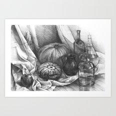 Still Life with the Pumpkins Art Print