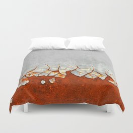 Rust and Grey Duvet Cover