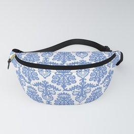 Floral Pattern Blue Fanny Pack