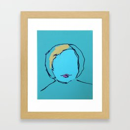 Self Portrait as a Blonde Framed Art Print