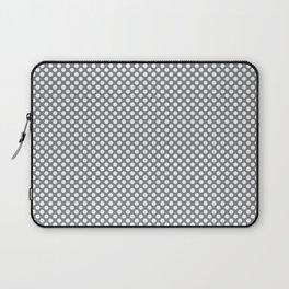 Sharkskin and White Polka Dots Laptop Sleeve
