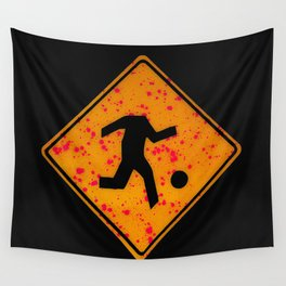 headless soccer player Wall Tapestry
