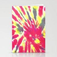 tie dye Stationery Cards featuring Tie Dye by vidixoxo