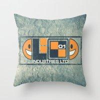 lunar Throw Pillows featuring Lunar by Fanboy30