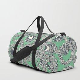 cirque fleur green Duffle Bag