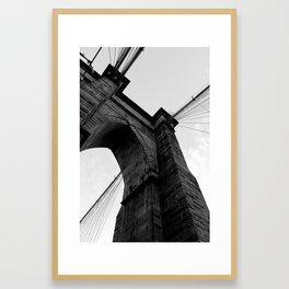 Brooklyn Bridge - Black & White Framed Art Print