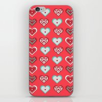 valentine iPhone & iPod Skins featuring Valentine by Heaven7