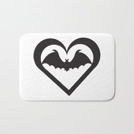 Bat Heart Bath Mat