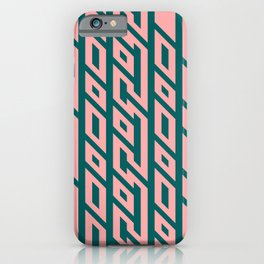 The Maze, cyan and pink iPhone Case