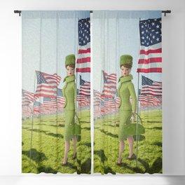Patriotic Barbie Blackout Curtain