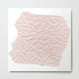 crumpled paper. Kraft paper Metal Print