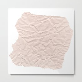 crumpled paper. Kraft paper Metal Print